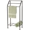 Monticello Towel Rack pictured in natural black