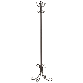 Breckenridge Standing Coat Rack pictured in Natural Black Finish from TimelessWroughtIron.com