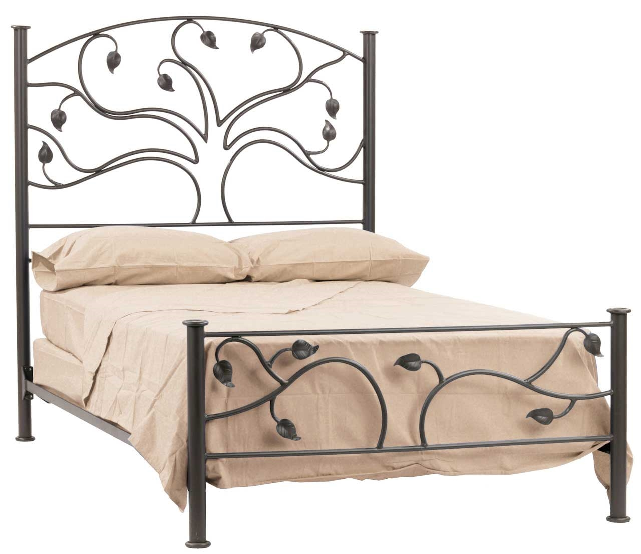 Wrought Iron Live Oak Headboard By Stone County Ironworks