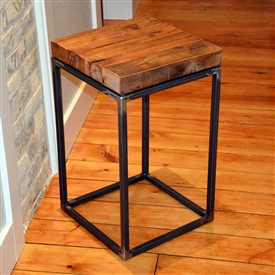 Pictured here is the American Country Small End Table with reclaimed wood top.