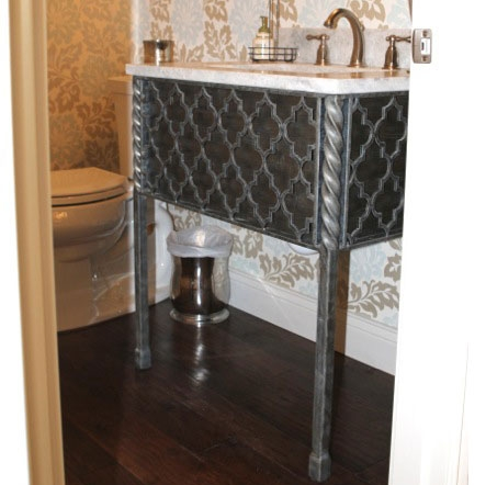 Pictured Here Is The 25 5 Inch Wide Victoria Iron Bathroom Vanity Base With Legs Available In
