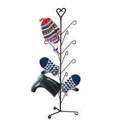 Wrought Iron Heart Deluxe Mitten Dryer Stand