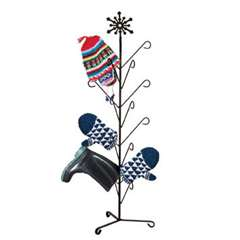 Wrought Iron Snowflake Deluxe Mitten Dryer Stand