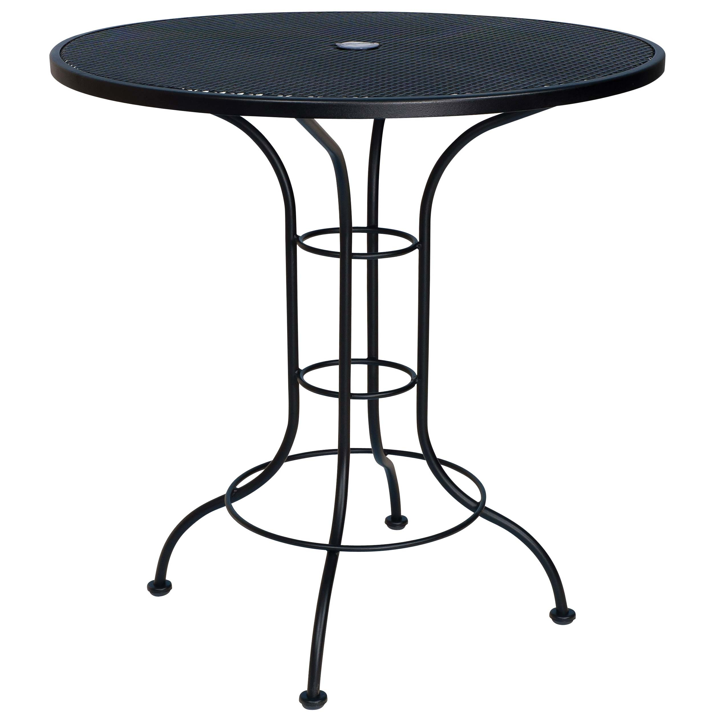 Pictured Is The 36 Round Counter Height Outdoor Bistro Table With Mesh