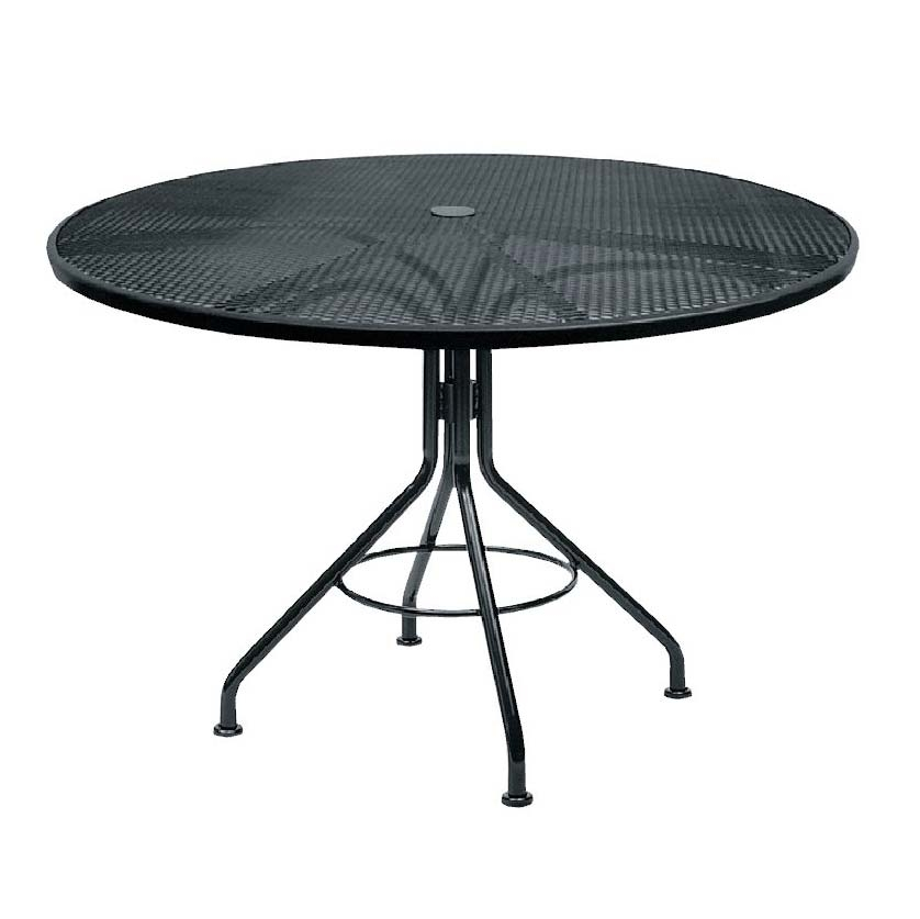 Pictured Is The Black Mesh 48 Round Dining Table From Woodard Outdoor