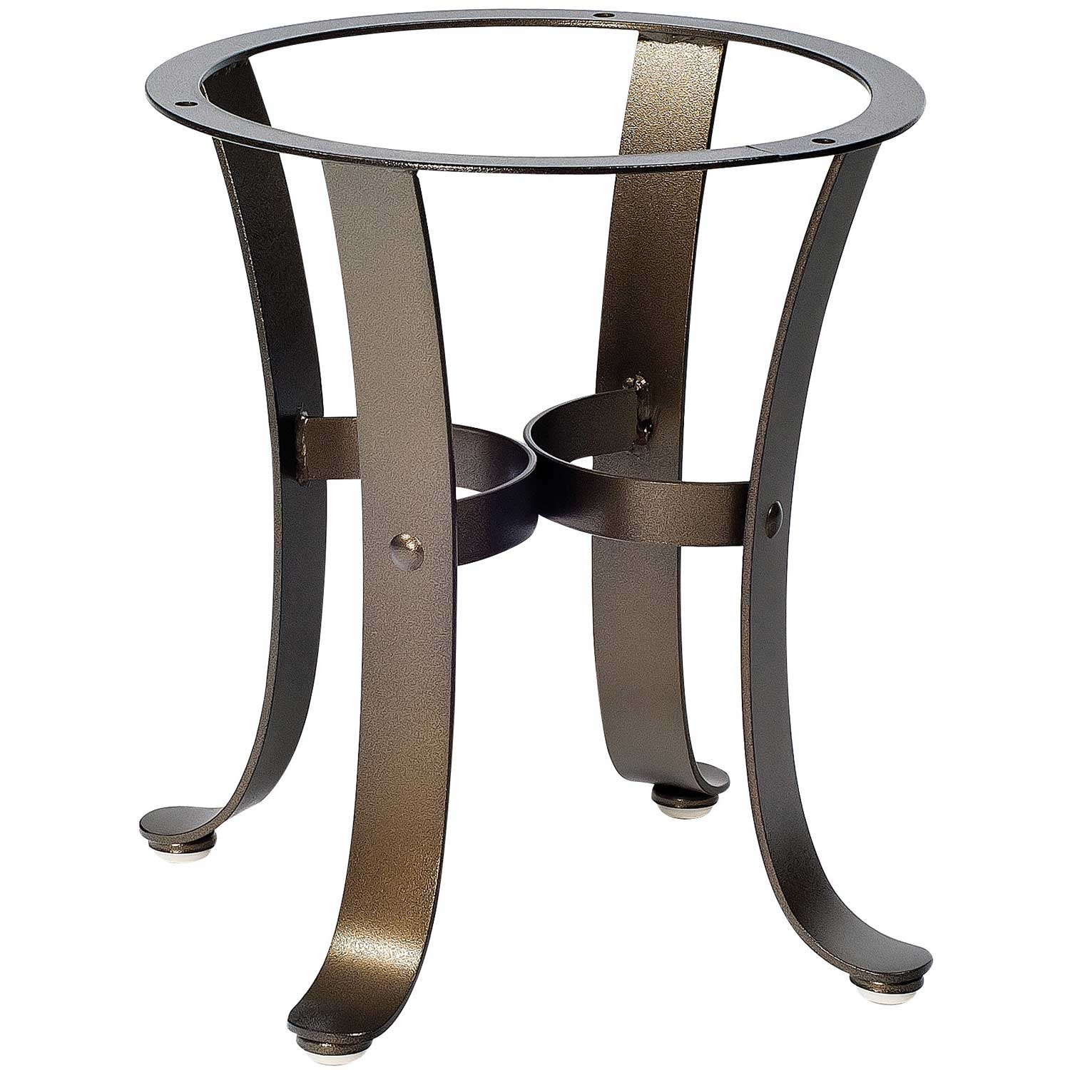 Pictured here is the cascade outdoor end table base with for Side table base