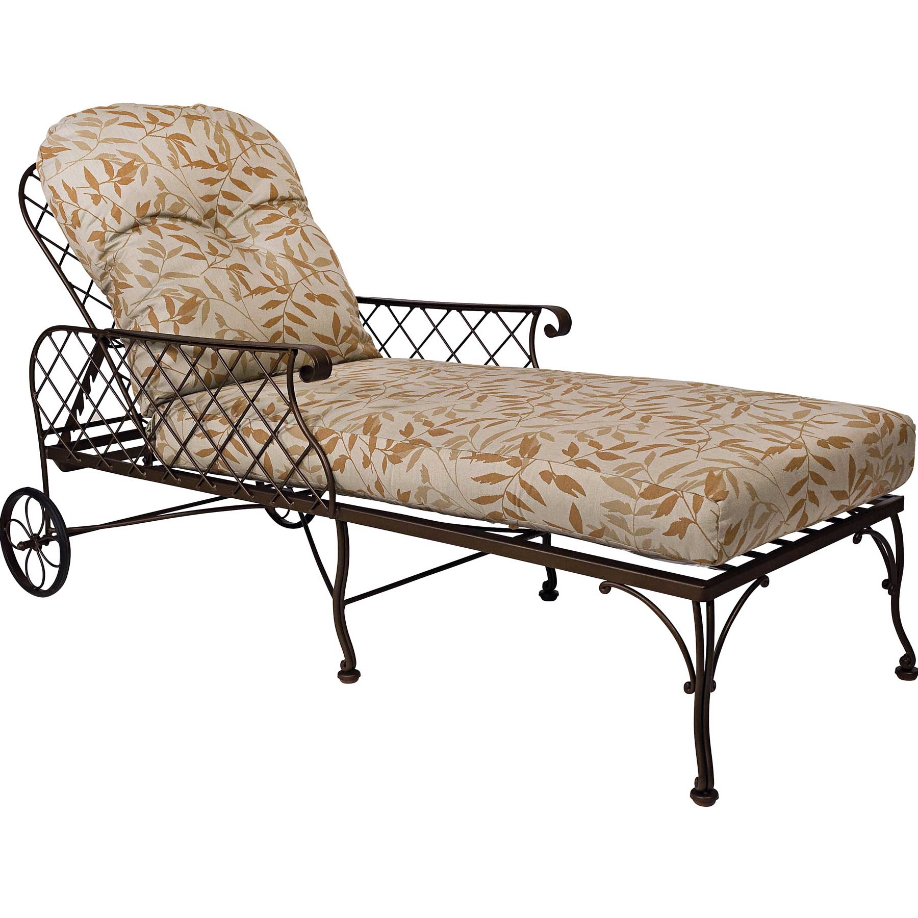 Pictured here is the brayden adjustable wrought iron for Black wrought iron chaise lounge