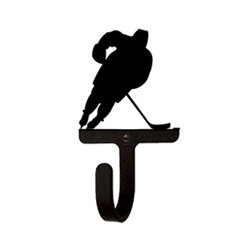 Wrought Iron Hockey Player Wall Hook Small