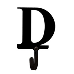 Wrought Iron Letter D Wall Hook