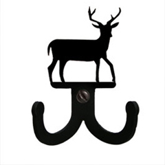 Wrought Iron Deer Double Wall Hook