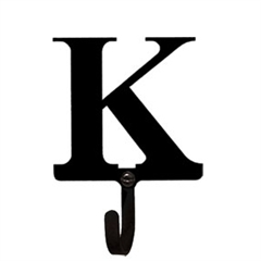 Wrought Iron Letter K Wall Hook