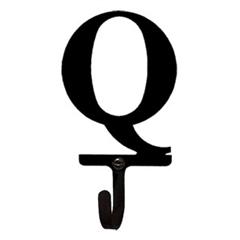 Wrought Iron Letter Q Wall Hook