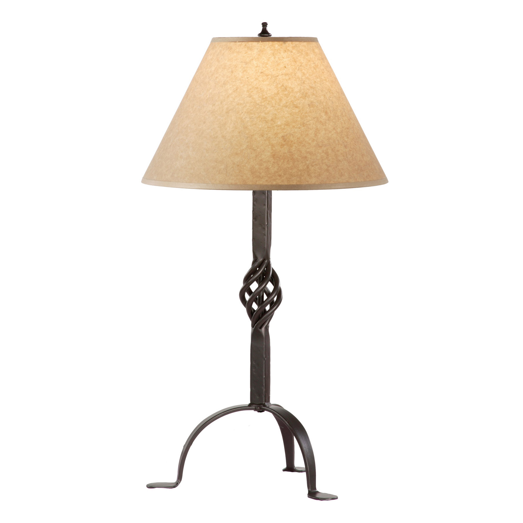 hand forged basketweave table lamp by stone county ironworks. Black Bedroom Furniture Sets. Home Design Ideas