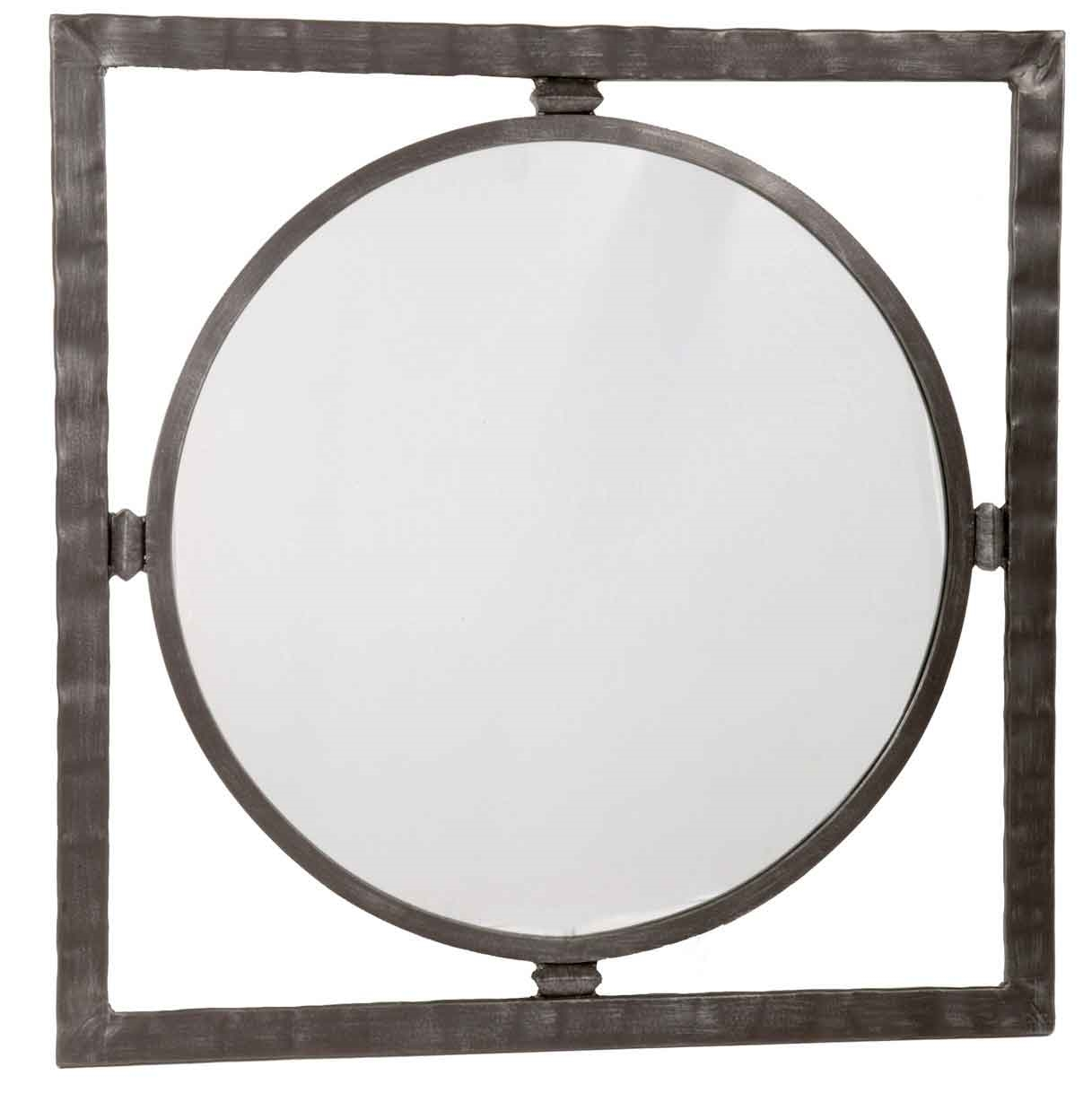 Forest hill round wall mirror for Wrought iron mirror