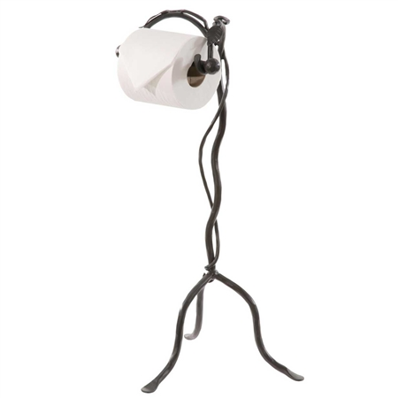 Wrought Iron Leaf Collection Standing Toilet Paper Holder