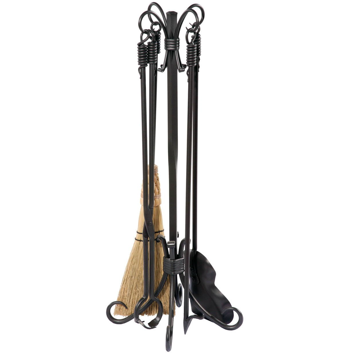 Pictured here is the Phoenix Fireplace Tool Set with a