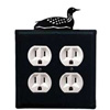 Wrought Iron Loon Outlet Cover (Double)