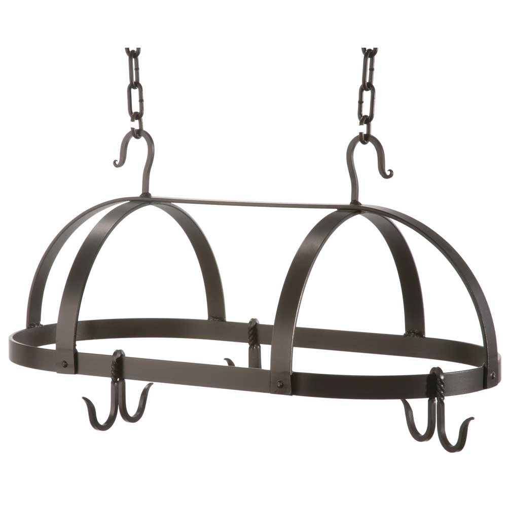 wrought iron oval pot rack by county ironworks