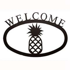 Wrought Iron Pineapple Welcome Sign