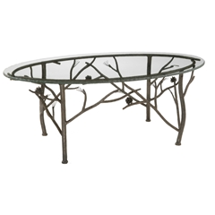 Rustic Pine Oval Coffee Table