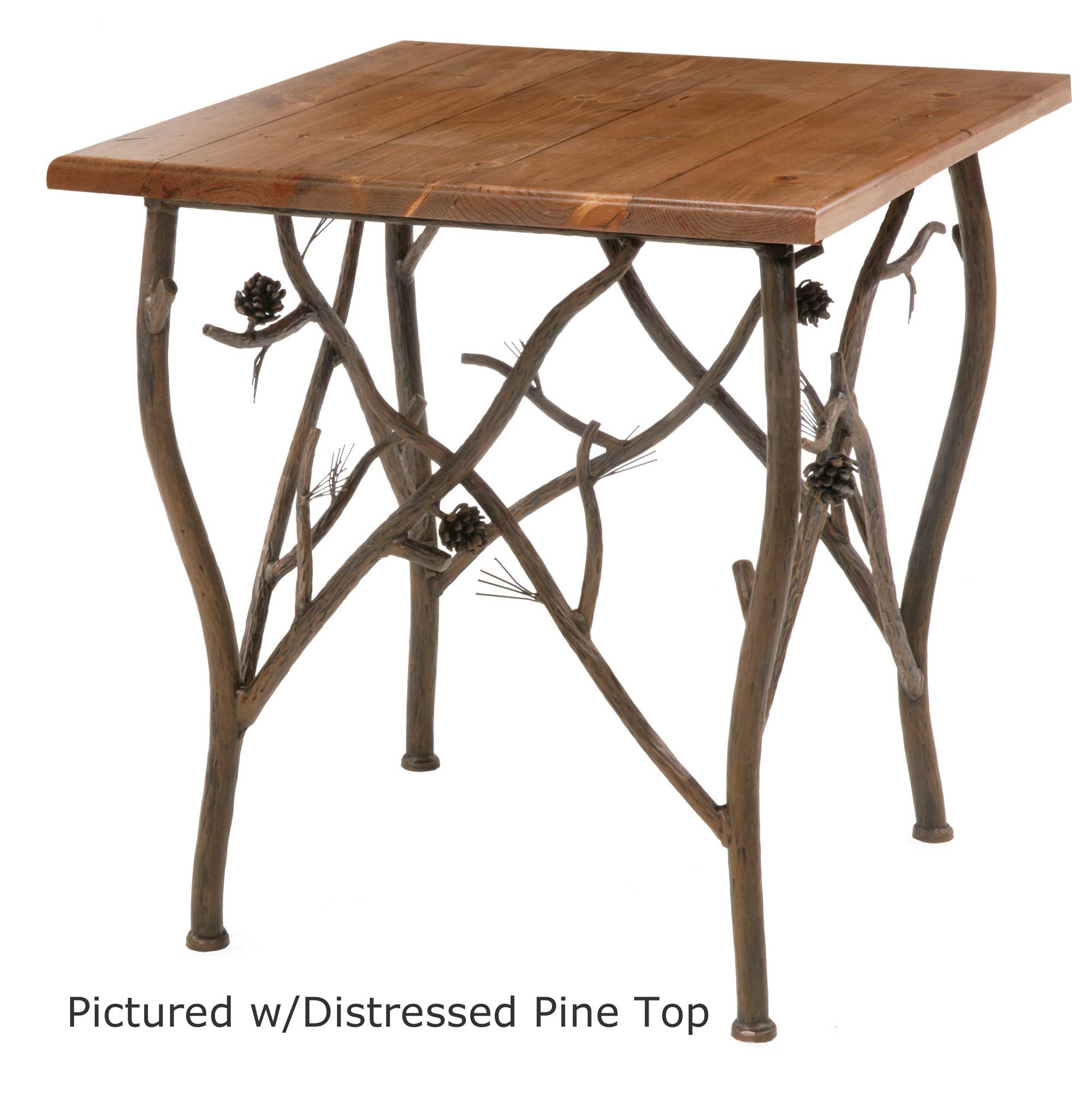 Iron Side Table ~ Pine side table g
