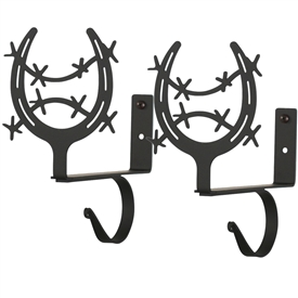 Wrought Iron Horseshoe Curtain Shelf Brackets