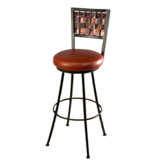 Rushton round counter stool quot