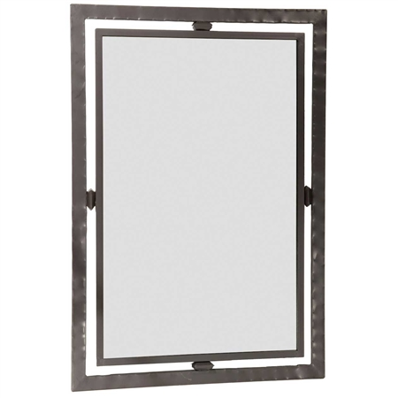 Wrought iron forest hill collection wall mirror for Wrought iron mirror