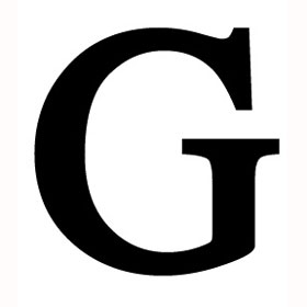 G  Wrought Iron Letter G
