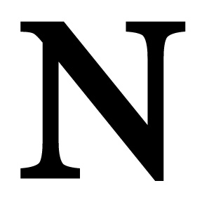 N Wrought Iron Letter N