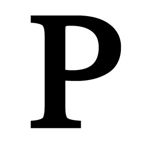Wrought Iron Letter P