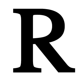 Wrought Iron Letter R