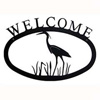 Wrought Iron Blue Heron Welcome Sign