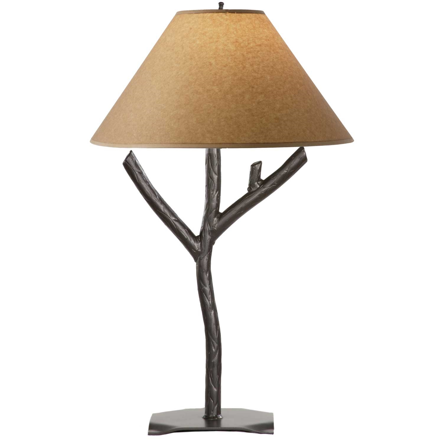 Rustic woodland table lamp - Chandelier desk lamp ...