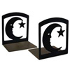 Wrought Iron Moon and Star Bookends