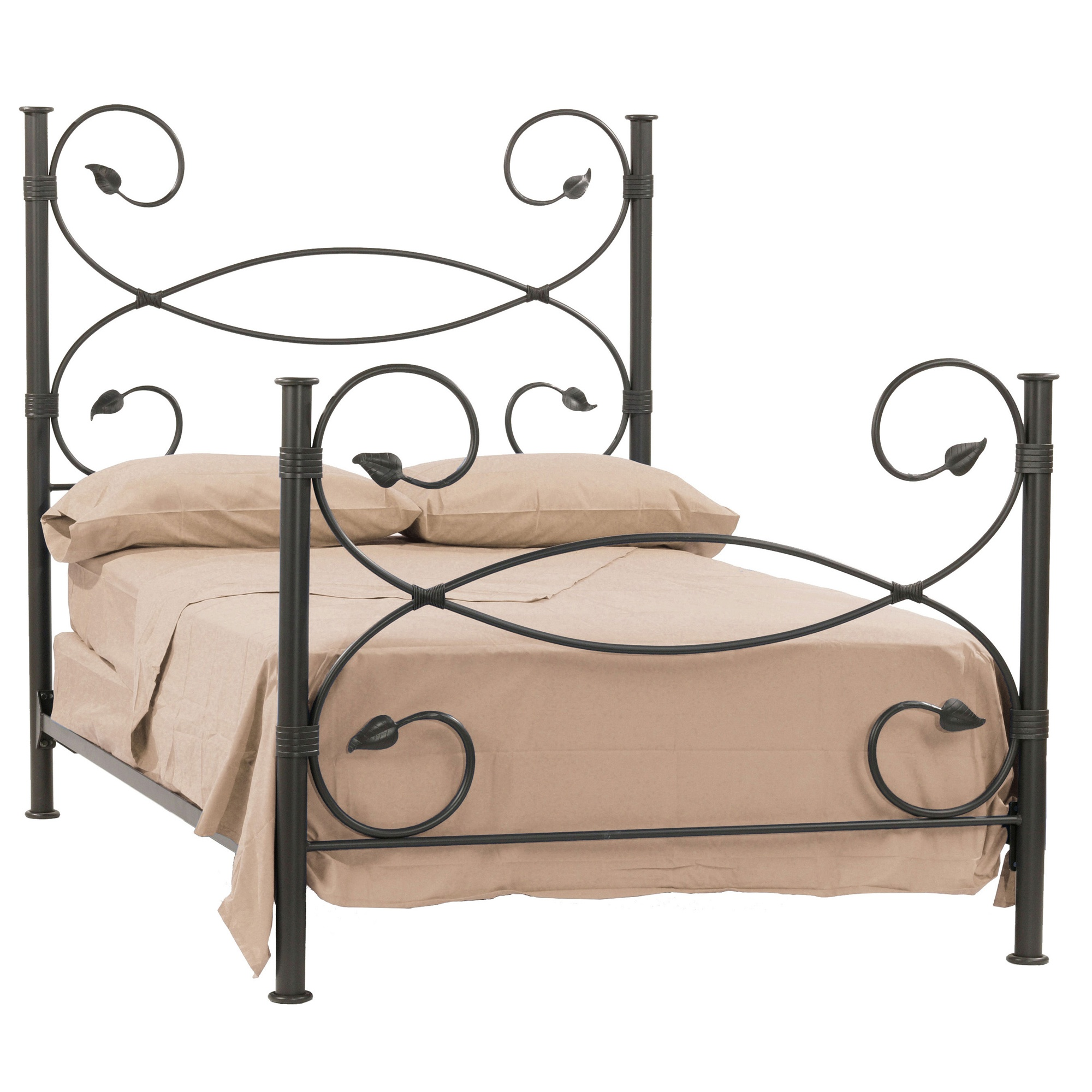 Wrought Iron Leaf Collection Bed By Stone County Ironworks