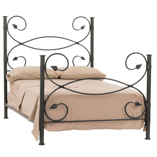 Leaf headboard Wrought iron headboard