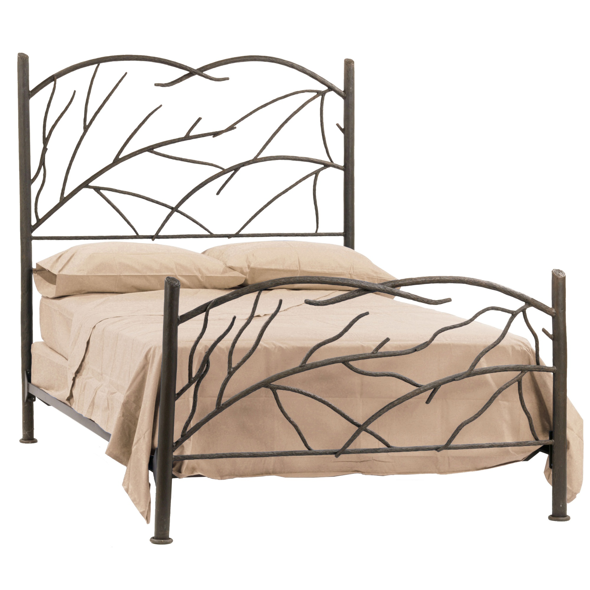 Wrought iron norfork bed by stone county ironworks Wrought iron headboard