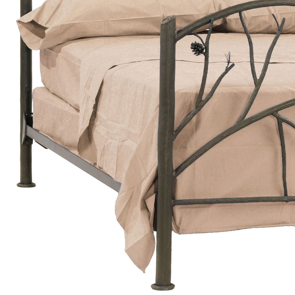 Wrought Iron Rustic Pine Bed By Stone County Ironworks