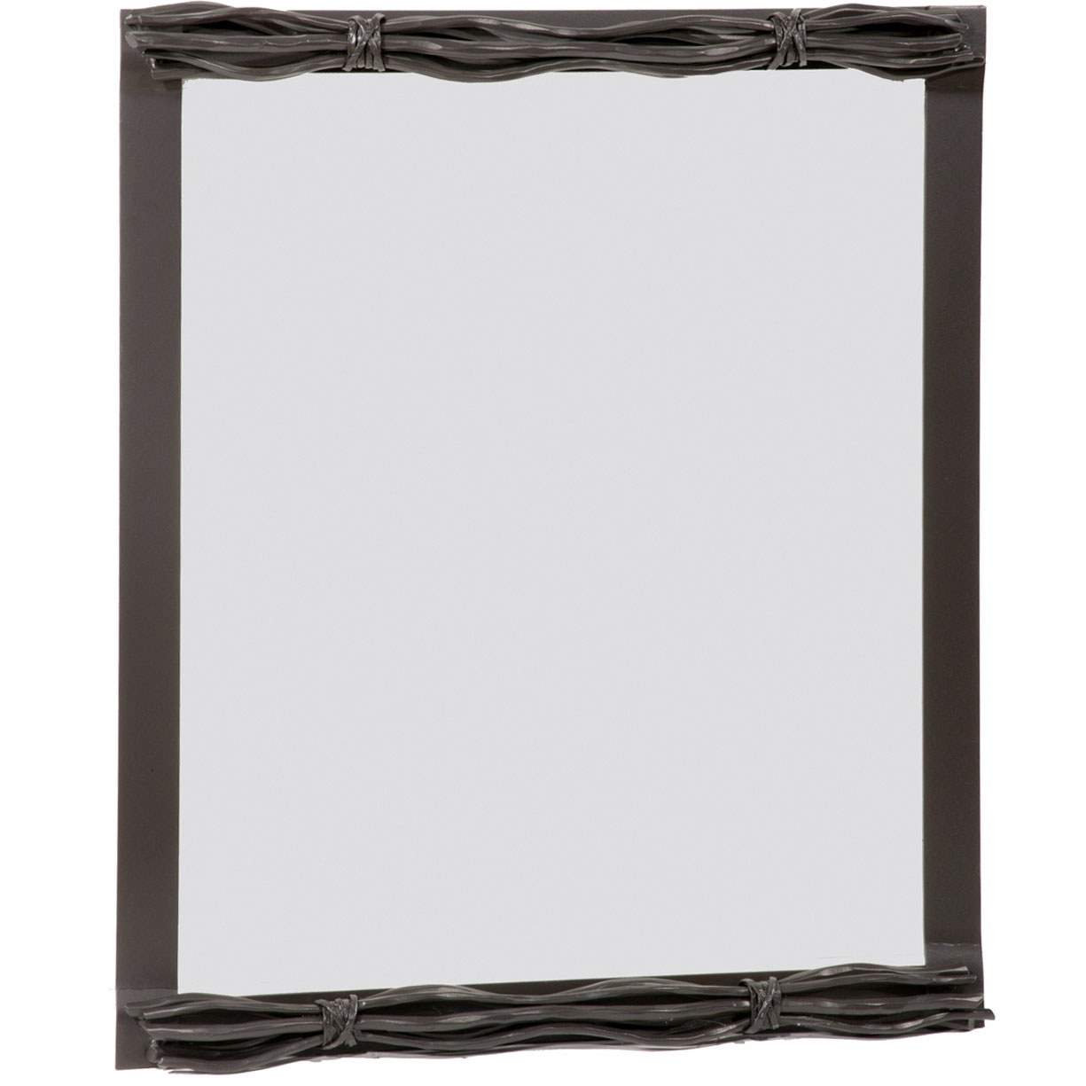 Rush wall mirror for Wrought iron mirror