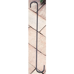 "Wrought Iron S-Hook - 18"" x 1-1/2"""