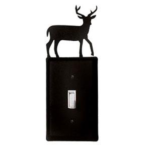 Wrought iron deer switch plate - Wrought iron switch plate covers ...