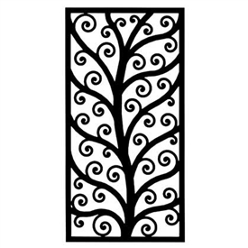 Wrought Iron Rectangular Wall Art (Style 202)