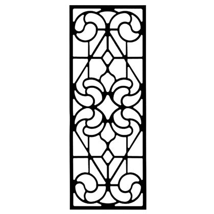 Wrought iron rectangular wall art style 205 for Wrought iron decorations home