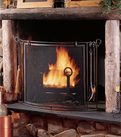 Shop all wrought iron fireplace and hearth accessories, including tool sets, screens, and more.