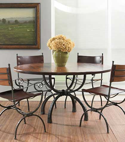 Shop iron dining chairs from Timeless Wrought Iron.