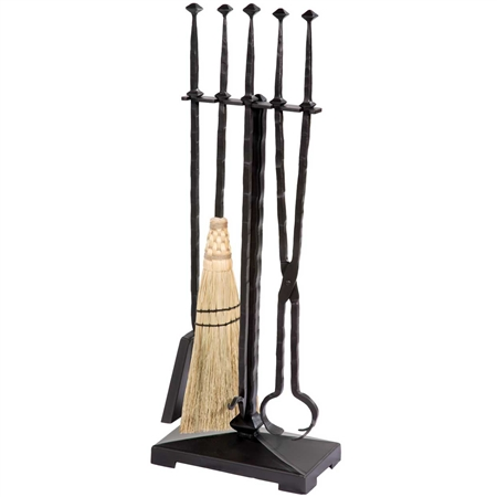 Forest Hill Wrought Iron Fireplace Tool Set | 5 Piece