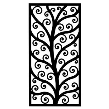 Rectangular Wall Art wrought iron rectangular wall art (style 202)
