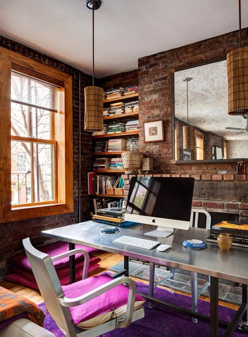 10 tips for designing your home office - Pictured is a wrought iron desk with metal top