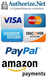 Pay for your furnishings with Visa, Master Card, American Express, Discover, PayPal, or Amazon Payments